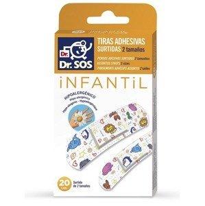 Dr. SOS INFANTIL prúžky mix vodeodolné 20 ks