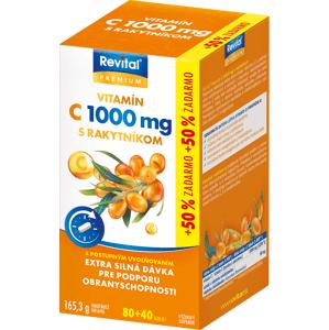Revital PREMIUM VITAMÍN C 1000 mg S RAKYTNÍKOM tablety s postupným uvoľňovaním 80+40 zadarmo
