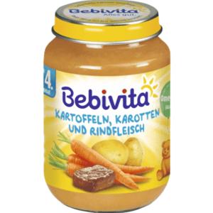 BEBIVITA Mrkva - zemiaky s hovädzím mäsom 190g