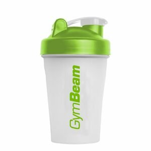 GymBeam Šejker Blend Bottle priesvitno-zelený 400 ml unflavored - transparent green - white