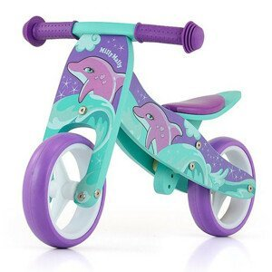 Detské multifunkčné odrážadlo bicykel Milly Mally JAKE Dolphin