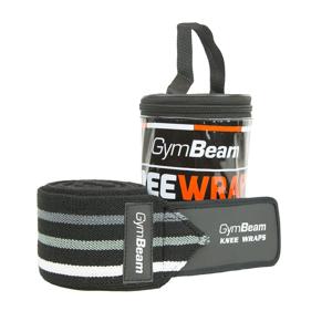 Bandáže na kolená - Gym Beam black universal - unflavored