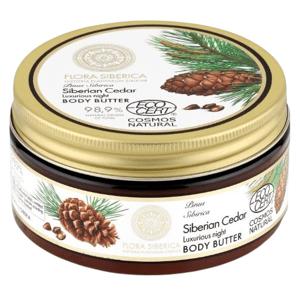 Flora Siberica Siberian Cedar Luxurious nočné telové maslo 300ml