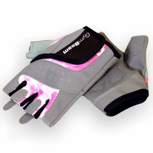 GymBeam Fitness Dámske rukavice Camo Pink pink XS - XS