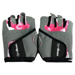 GymBeam Fitness Dámske rukavice Camo Pink fudge brownie pink S