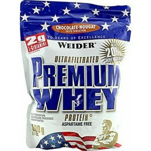 Weider Protein Premium Whey, 500g - čokoláda-nugát