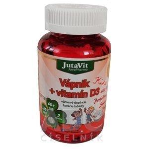 JutaVit Vápnik + vitamín D3 Kids žuvacie tablety 30 kusov