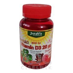 JutaVit Gumkáči Vitamín D3 20µg Kids 60 tabliet