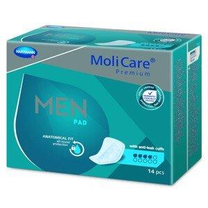 MoliCare Premium MEN PAD 4 kvapky inkontinenčné vložky pre mužov 14ks