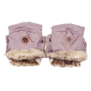 EasyGrow Rukavice na kočík Basic Pink Melange