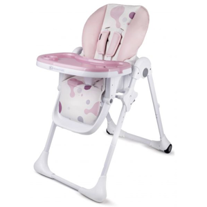 Kinderkraft YUMMY Detská jedálenská stolička ružová