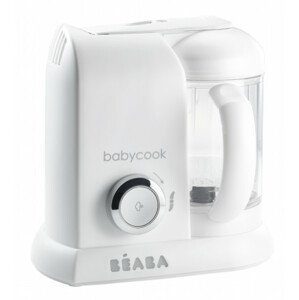 Parný varič + mixér BABYCOOK White Silver