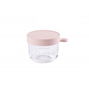 Beaba Téglik na jedlo sklenený 150ml ružový