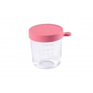 Beaba Téglik na jedlo sklenený 250ml tmavo ružový