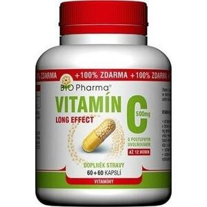 BIO Pharma Vitamín C 500mg Long Effect 60+60cps