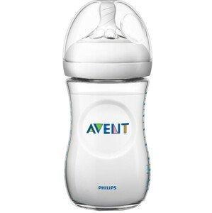 Philips Avent Dojčenská fľaša Natural, transparentná 260ml