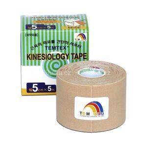 TEMTEX KINESOLOGY TAPE tejpovacia páska, 5 cm x 5 m, béžová