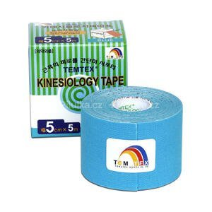 TEMTEX KINESOLOGY TAPE tejpovacia páska, 5 cm x 5 m, modrá