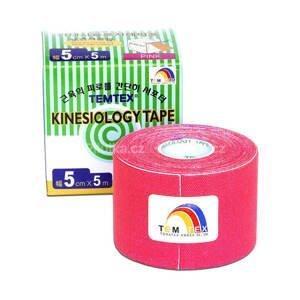 TEMTEX KINESOLOGY TAPE tejpovacia páska, 5 cm x 5 m, ružová