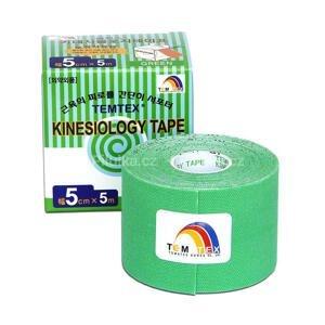 TEMTEX KINESOLOGY TAPE tejpovacia páska, 5 cm x 5 m, zelená