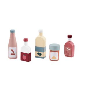 Kids Concept Fľaše drevené, Bistro 5ks