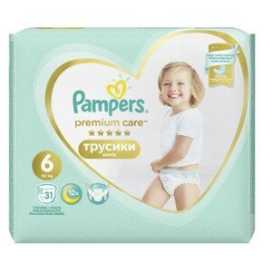 Pampers Premium Care Pants S6 31ks, 15+kg