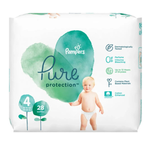 Pampers Pure Value Pack S4 (9-14kg) 28ks Maxi