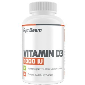 GymBeam Vitamín D3 1000 IU fudge brownie 60 kapsulí