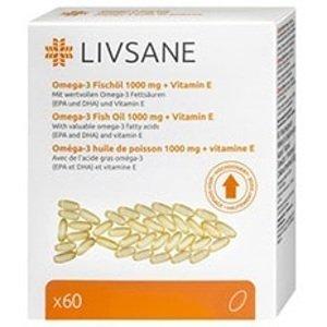 LIVSANE Omega-3 plus vitamín E 60 kapsúl