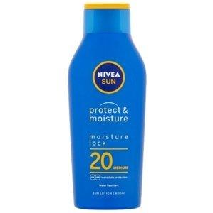 Nivea Sun Protect&Moisture Hydratačné mlieko na opaľovanie OF20 400ml