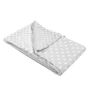 New Baby Detská deka z Minky 80x102cm sivá
