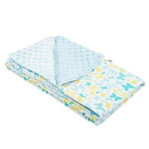 New Baby Detská deka z Minky modrá 80x102cm