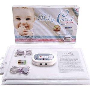 Monitor dychu Baby Control BC - 230i, pre dvojčatá s 2x2 senzorovými podložkami