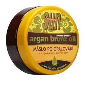 Sun argan bronz maslo po opaľovaní so zlatými glitrami 200ml