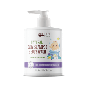 WoodenSpoon Detský sprchový gél a šampón na vlasy 2v1 s bylinkami 300ml