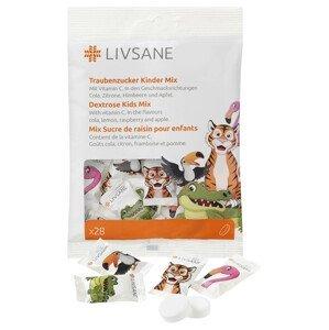 LIVSANE Dextróza pre deti Mix žuvacie tablety s vitamínom C 28ks