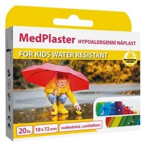MedPlaster Náplasť For Kids vodeodolná s vankúšiokom 20ks
