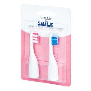 VITAMMY SMILE Náhradné násady na detské zubné kefky Smile, 2ks, ružová/modrá