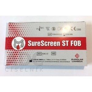 SureScreen ST FOB samodiagnostika test na stanovenie krvi v stolici, 1x1 ks