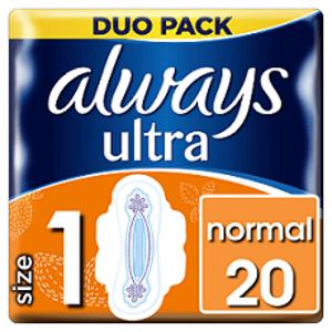 ALWAYS ULTRA NORMAL PLUS-DVOJBALENIE 20 hygienické vložky 20 ks