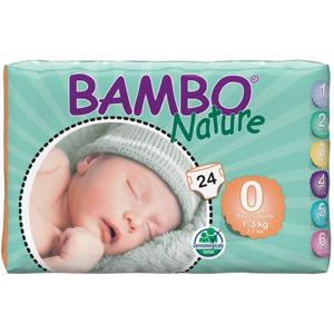 Bambo Premature 0,1-3kg plienkové nohavičky pre nedonosené deti, 24ks