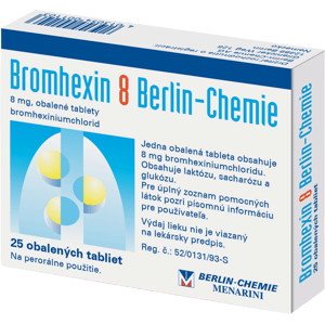 BROMHEXIN 8 BERLIN-CHEMIE 8 mg 25 tbl
