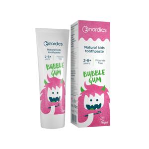 NORDICS Detská prírodná Zubná pasta Bubble Gum 50ml