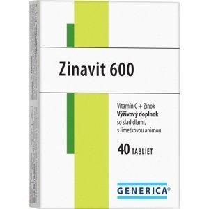 GENERICA Zinavit 600 s limetkovou arómou tbl 40 ks