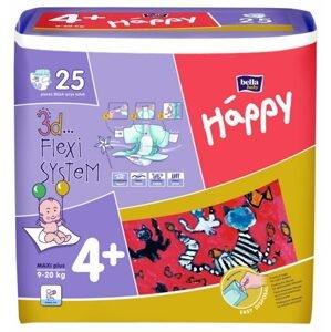 Bella Happy 4+ Maxi plus detské plienky 25ks