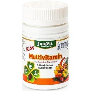 JutaVit Multivitamín s Lactobac. Rhamnosus Kids žuvacie tablety 45 ks