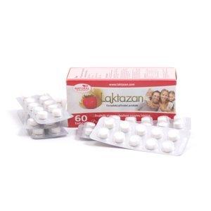 LAKTAZAN tablety tbl enzým laktáza s príchuťou jahody 60 ks