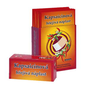 Kapsaicínová hrejivá náplasť CAPSICOLLE 7x10 cm ks