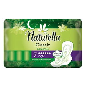 Naturella CAMOMILE Classic Night hygienické vložky 7 ks