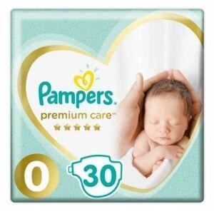 Pampers Premium Care S0 30ks, <3kg